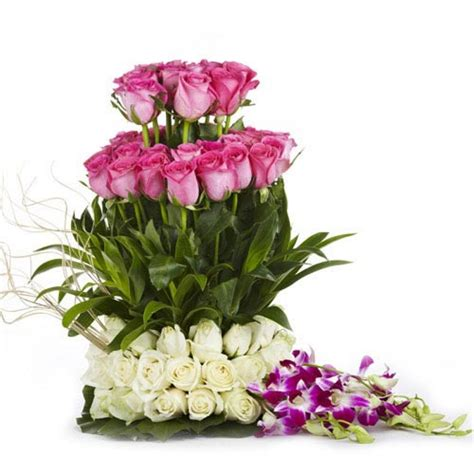 First Home Housewarming Gift rose and orchid bouquet buy gifts online