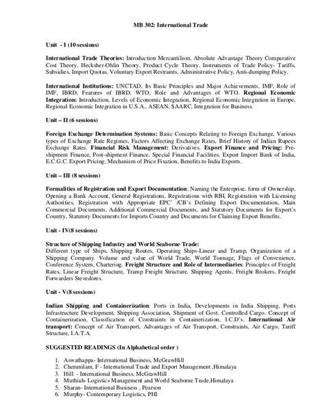 Mba Business Economics Syllabus by Mba Syllabus Iii Iv Semester 2013 14