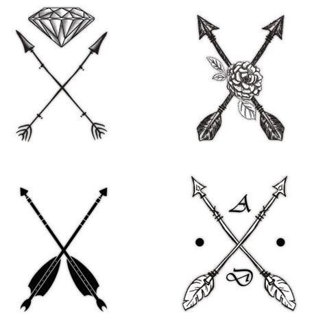 crossing arrow tattoo meaning attractive arrow designs and their symbolism