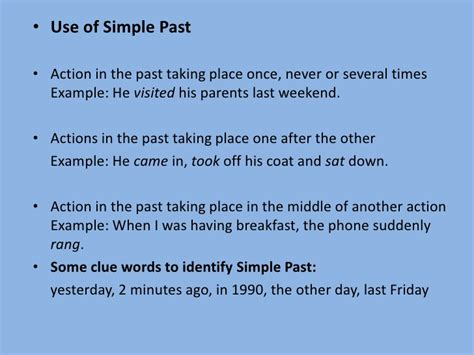 write down the pattern of present perfect tense the present perfect past simple