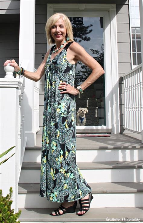 fashion over 50 maxi dress southern hospitality fashion over 50 summer dresses southern hospitality