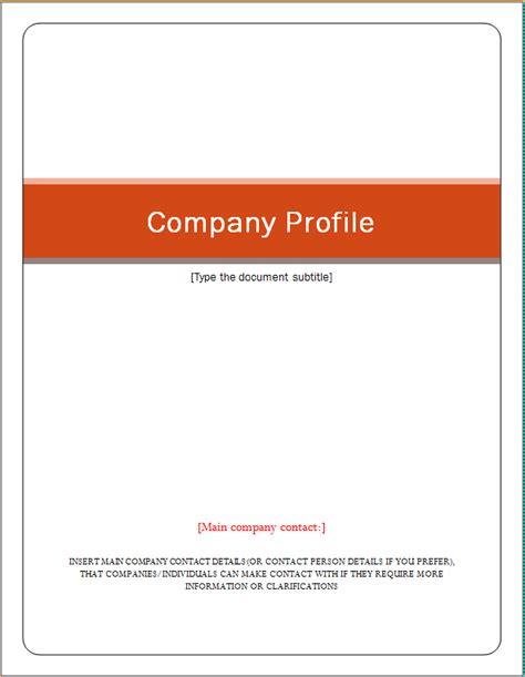 how to make a company profile template how to make a company profile template image collections