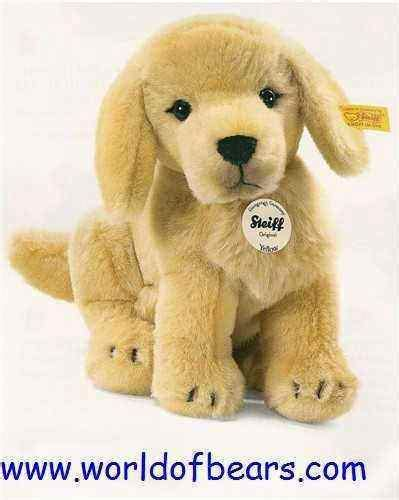 steiff golden retriever steiff 270123 yellow golden retriever puppy