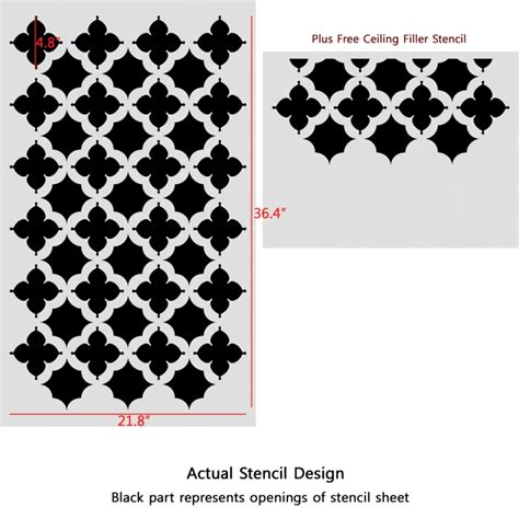 wall stencil templates free moroccan stencils agadir reusable wall stencil for walls