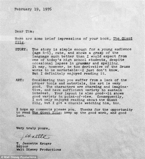Rejection Letter Daily Mail 15 rejection letters that created our modern superstars