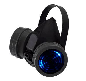 Mokka Sneakers Led 688 black and grey light up led respirator mask skill toys cyberpunk toys and grey