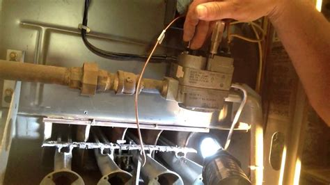 carrier furnace pilot light furnace pilot light diy lighting the pilot light on a