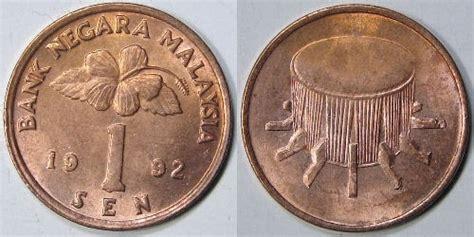 Uang Koin Kuno 20 Sen Malaysia Tahun 1997 jual koin mata uang kuno 1 sen malaysia tahun 1986 1990