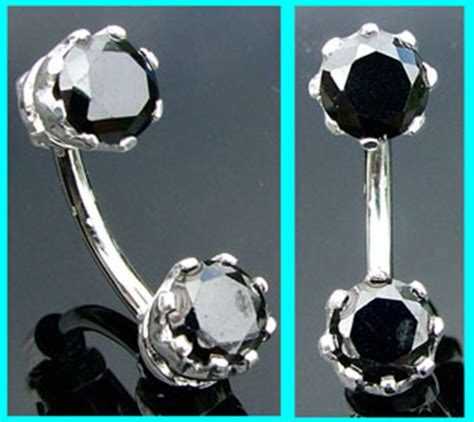 Top And Bottom Belly Bars by Silver Belly Bars