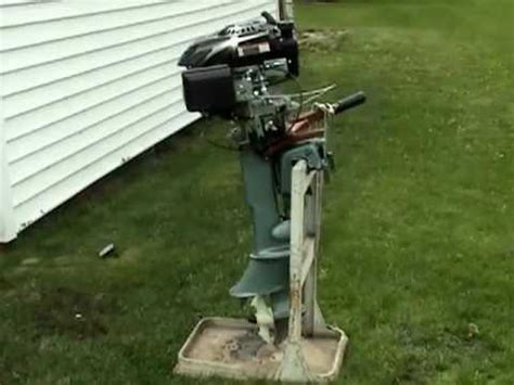 lawnmower boat motor lawnmower boat motor youtube