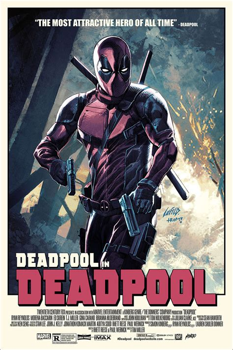 dealpool marvel hero poster film movie star american style the creator of deadpool made an awesome mondo poster