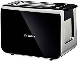bosch tat8613 styline 2 slice toaster black amazon co uk
