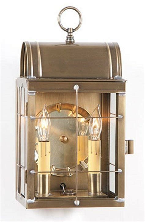 Lantern Wall Sconce Indoor by Weathered Brass Wall Light Dual Candle Lantern Indoor