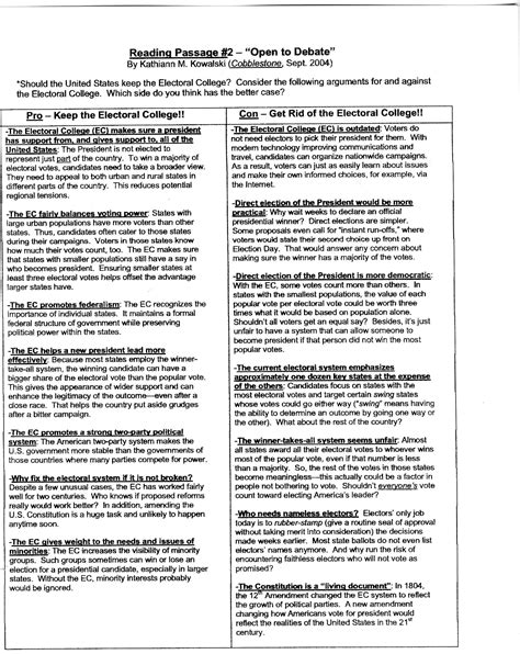 Electoral College Pros And Cons Essay by Essay On Electoral College Pros And Cons