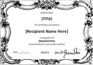 award certificates templates office 2007 ms word world s best award certificate template word