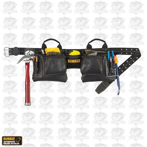 dewalt dg5472 12 pocket leather tool belt pouch set
