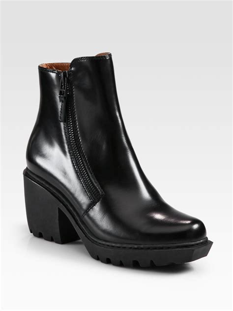 grunge boots opening ceremony grunge leather zip ankle boots in