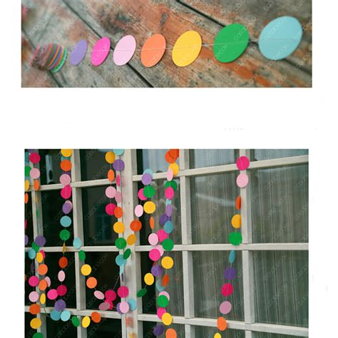 Handmade For Children - 4m colorful card paper wedding decoration
