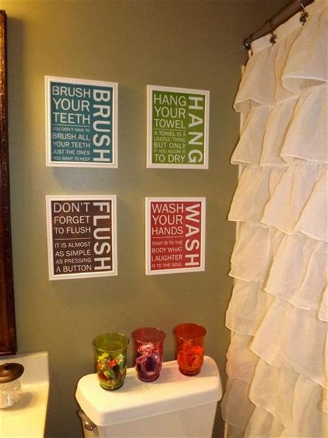 bathroom signs crafts dump a day