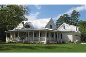 country house plans wrap around porch home plan homepw77527 2556 square foot 4 bedroom 3