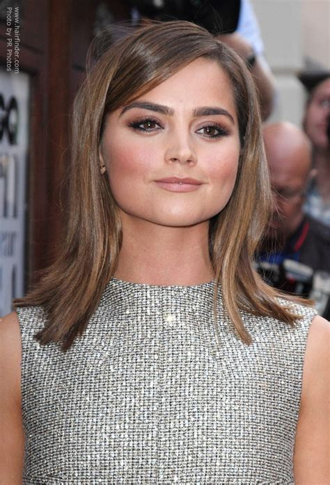 Jenna Coleman's smooth shoulder length hair with an