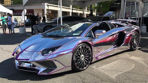 chrome lamborghini chrome purple lamborghini aventador sv