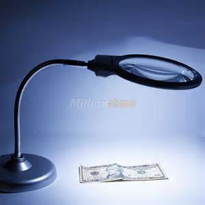 new lighted table top desk magnifier magnifying glass