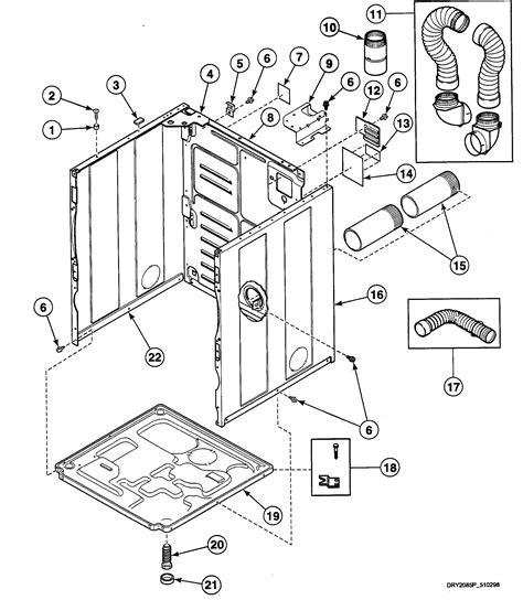 speed dryer parts diagram speed dryer panel parts model sde507wf