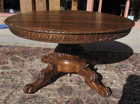 Antique Dining Room Table With Claw by Quartersawn Oak Claw Foot Dining Table