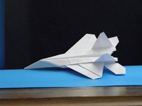 Origami F 22 - origami f 22 raptor tutorial crafting paper