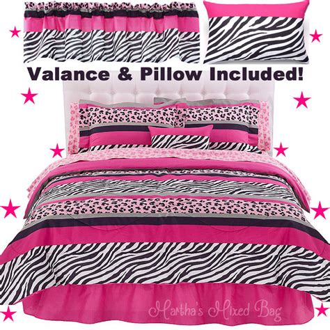 pink and black zebra comforter set pink black zebra stripe chic bedding comforter