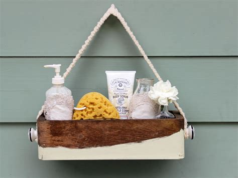 diy shower caddy make a chic bath caddy for guests hgtv