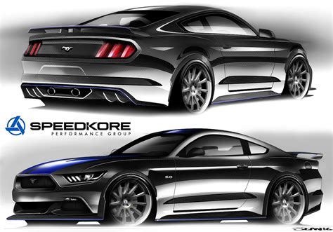 ford mustang supercar sema 2016 ford teases custom mustangs and fusions