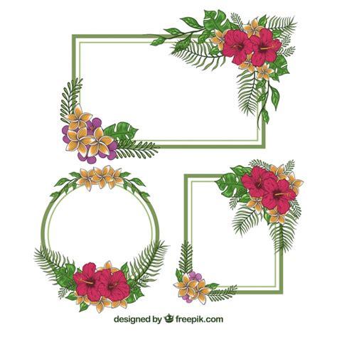 cornici d cornici d epoca set con decorazioni floreali scaricare