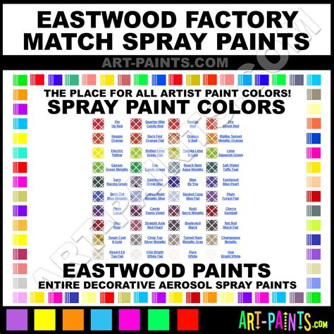 eastwood factory match spray paint colors eastwood factory match aerosol decorative graffiti