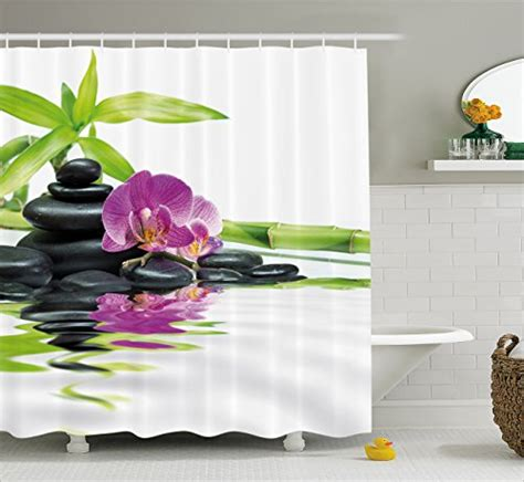 spa decor shower curtain by ambesonne asian relaxation