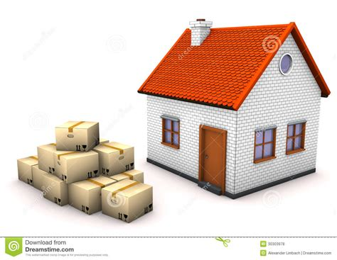 free houses to move house moving boxes royalty free stock photos image 30303978