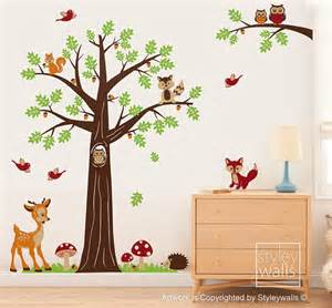 nursery wall decal woodland forest animals bambi deer owls bambi disney decal removable wall sticker home decor art