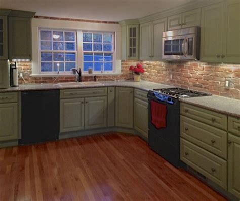 brick tile kitchen backsplash reclaimed thin brick veneer and floor tile