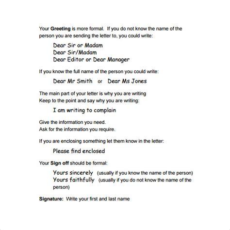 layout of a formal letter pdf formal letter format 12 free sles exles formats