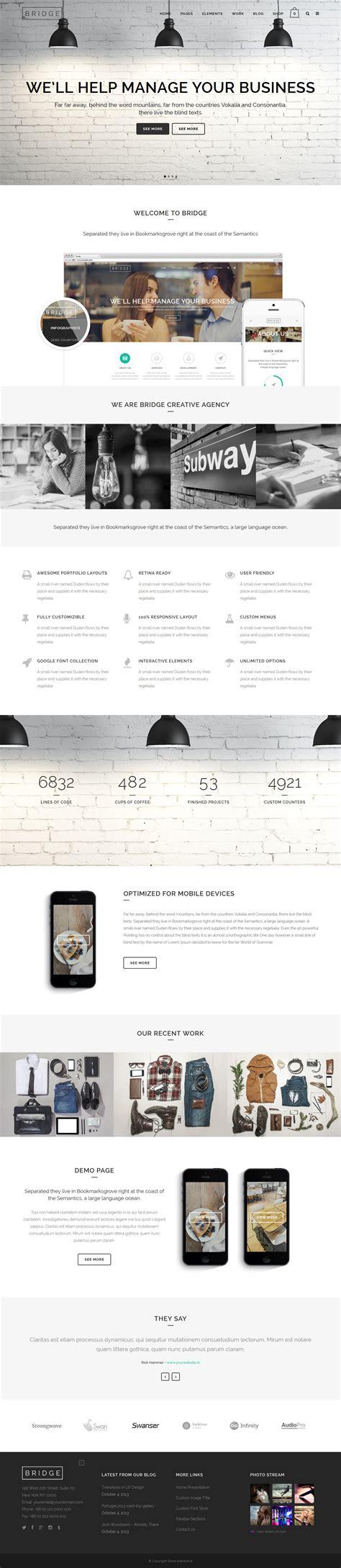 Themes Wordpress Bridge | bridge a premium creative wordpress theme free download