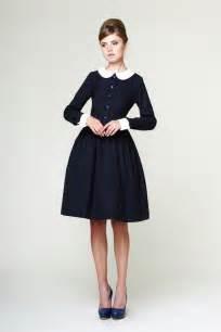 Custom made navy blue tartan dress with white by mrspomeranz
