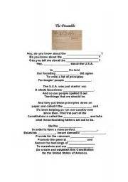 english worksheets the preamble schoolhouse rock cloze