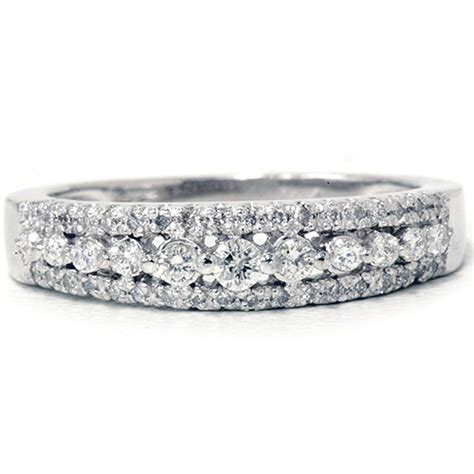 1 4ct anniversary wedding ring 10k white gold
