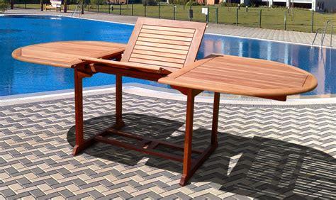 wood patio table set vifah v144set1 wood 7 patio dining set with oval