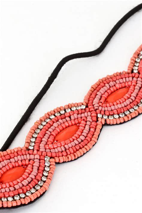 elastic beaded headbands seed bead elastic headband hair accessories