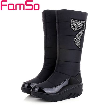 warm winter boots for 2016 new winter russia keep warm snow boots waterproof