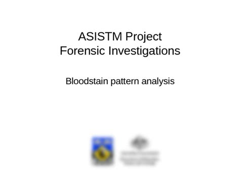 bloodstain pattern analysis limitations fsb10 blood spatter ppt criminal justice and criminology