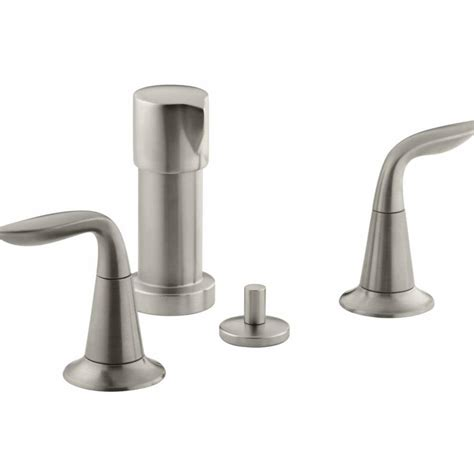 kohler bidet faucet shop kohler refinia vibrant brushed nickel vertical spray