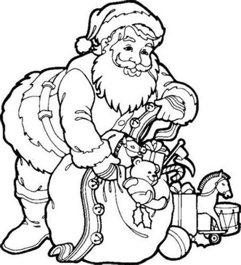 Santa Coloring Pages Printable Free free printable santa claus coloring pages for